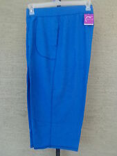 NWT  JUST MY SIZE FRENCH TERRY JERSEY KNIT POCKET CAPRIS HEATHER BLUE 4X