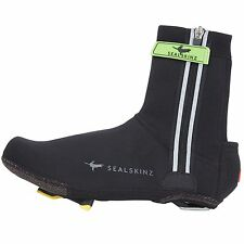 SealSkinz Neoprene Halo LED Road Bike/Cycling Overshoes - Black/Red - Small