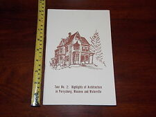 1971 BOOKLET BOOK HIGHLIGHTS OF ARCHITECTURE PERRYSBURG MAUMEE WATERVILLE