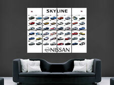 NISSAN GTR EVOLUTION SKYLINE FAST CAR SPEED  WALL POSTER  PRINT LARGE HUGE