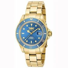Invicta Pro Diver Swiss Made Sellita SW200 Automatic Gold Tone Bracelet Watch