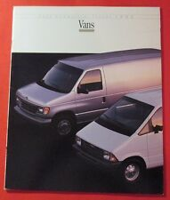 1992 FORD COMMERCIAL TRUCKS VANS SALES SHOWROOM BROCHURE..22 PAGES