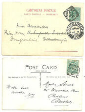 1/2D EDWARD VII SQUARED CIRCLES X6 POST CARDS CHESTER STATION OFFICE DAWLISH ETC