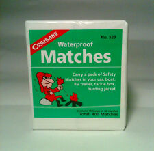 Waterproof Matches - 10 Box of 40  - 400 Matches + Flint Magnesium Striker