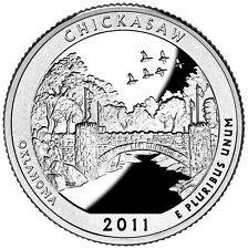 Stati Uniti  serie Park Quarter 2011 Chickasaw Oklahoma zecca Denver