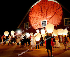 25 White Chinese Fire Flying Sky Paper Kongming Floating Wishing Lantern Wedding