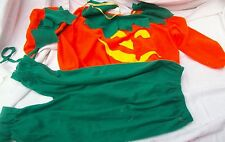 Kid Toddler 3 Piece Pumpkin Halloween Costume Shirt Pants & Hat NEW 1-2 Years