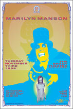 MARILYN MANSON 1998 Original Tulsa Brady Theater Concert Poster Signed