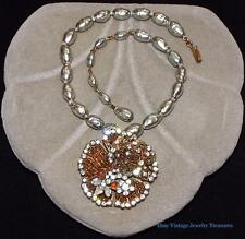 Vintage SIGNED Original By Robert Wired Pendant Baroque Pearl Necklace
