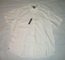 803  Cremieux Classics White Oxford Slim Fit Short Sleeve Shirt XX L