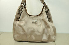 COACH 16505 MADISON DOTTED OP ART MAGGIE BAG PURSE Beige