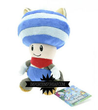 SUPER MARIO BROS. TOAD MUSASABI BLU PELUCHE wii u pupazzo new plush doll blue