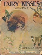 1908 sheet music FAIRY KISSES WALTZ ( BUTTERFLIES)