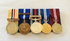 Iraq, NATO Non Art 5, Afghanistan, Golden & Diamond Full Size Mounted Medals