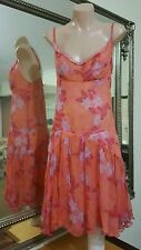 Kookai Dress.Sz38/8-10.Silk with lace trim.Fully lined.VGC