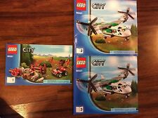New Lego Instruction Manual ONLY City Cargo Heliplane  60021 All 3 Books