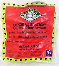 1992 McDonald's Happy Meal Cabbage Patch Kids Jennifer Lauren Fun On Ice MIP C10