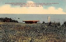 c.1910 Grave of Samuel Pierpont Fisher's Island LI NY post card Fishers