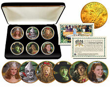 WIZARD OF OZ Eisenhower IKE Dollar US 6-Coin Set 24K Gold Plated w/Gift Box