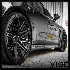 """20"""" XO MILAN MATTE BLACK CONCAVE WHEELS RIMS FITS MERCEDES W221 S550 S63 S65"""