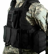Black Airsoft Tactical Vest / Paintball Molle Vest / Combat Plate carrier vest