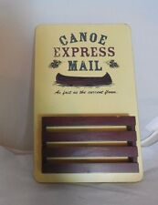 Canoe Express Mail Holder Letter Mailbox Catch All Wall Mountable Wooden