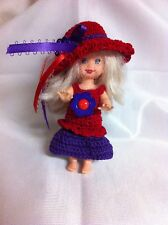 Kelly Doll Crochet Red Hat Society  Outfit- By Niko
