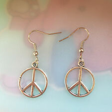 Antique copper peace Earrings Handmade Jewelry fashion