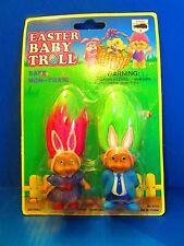 "EASTER BABY TROLL DUO, MOTHER & FATHER - 2"" Soma Troll Dolls - NEW"