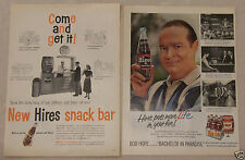 Vintage 2 Page Magazine Ad Hires Root Beer Bob Hope Bachelor in Paradise Snack