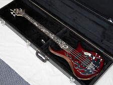 TRABEN Phoenix 4-string BASS guitar NEW Blood Red w/ HARD CASE - Quilt Maple