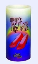 """WIZARD OF OZ NO PLACE LIKE HOME WAX FLAMELESS CANDLE 5 7/8"""" TALL SQ F75"""