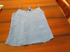 NWT J. Crew Size 6 100% Silk Carrie Cami Tank Shirt in Blue Grotto $98 Su' 2016