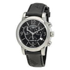 Tissot Dressport Black Dial Black Synthetic Leather Ladies Watch T0502171705700