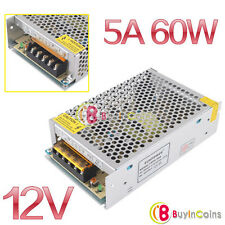 12V 5A Output Switch Power Supply Driver For LED Strip Light Display CCTV Cams