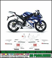 kit adesivi stickers compatibili  r 125 yzf moto gp fiat