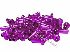 36 x Halo 7075 Alloy 14g Spoke Nipples CNC Purple 12mm MTB Bicycle Bike Wheel
