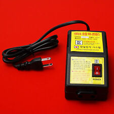 Mini Transformer Converter Step Up Voltage Button From 100V To 220V 60Hz 100W