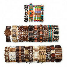 Wholesale Lot 48* Boho Wood Bracelets Great Jewelry Mix