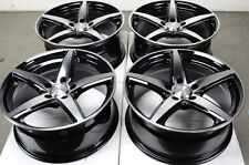 17 5x112 Black Wheels Fits E Class S430 Mercedes Benz Audi Rabbit A4 5 Lug Rims