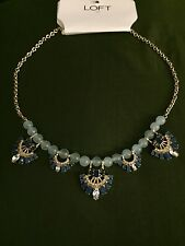 Ann Taylor Loft Factory Blue and Gold Necklace