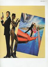 "2002 Vintage JAMES BOND ""A VIEW TO A KILL"" BRITISH MINI POSTER ART Lithograph"