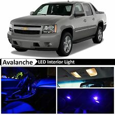 14x Blue LED Lights Interior Package Kit 2007-2014 Chevy Avalanche + TOOL