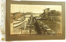 Military Photograph US Plane Carrier SARATOGA & H.M.S DESPATCH Panama 1928 (3465