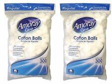 600 Cotton Balls - Amoray Care Cotton Balls, 100% Pure Hypoallergenic Cotton