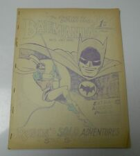 1965 BATMANIA #5 Batman & Robin Fanzine ZINE White House of Comics FN- 28 pgs