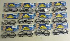 12 PAIR KIDS BLACK NERD GLASSES THICK LENS GEEK SHADES COSTUME COKE BOTTLE FRAME
