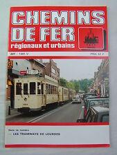 Chemins de fer régionaux et urbains 227 1991 tramways de LOURDES