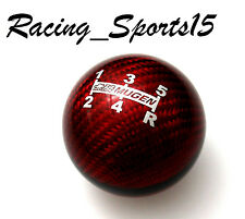 Genuine CARBON FIBER RED MUGEN shift knob for Honda CRZ CIVIC ACCORD S2000 FA5
