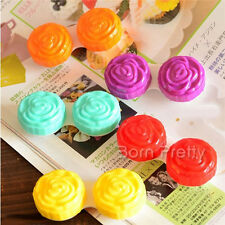 1Pc Colored Rose Design Contact Lenses Case Box Storage Container (Random Color)